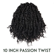 Toyotress 9 Packs Tiana Passion Twist Hair Pre-Looped Pre-twisted Crochet Braids Hair Synthetic Braiding Hair Extension