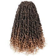 Toyotress Tiana Passion Twist Hair - 16 Inch Pre-Looped Pre-twisted Crochet Braids Hair Synthetic Braiding Hair Extension