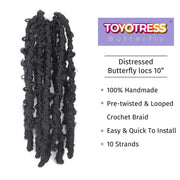 Toyotress Goddess Box Braids Crochet Hair 20 Inch Crochet Briads Synthetic Braiding Hair Extension