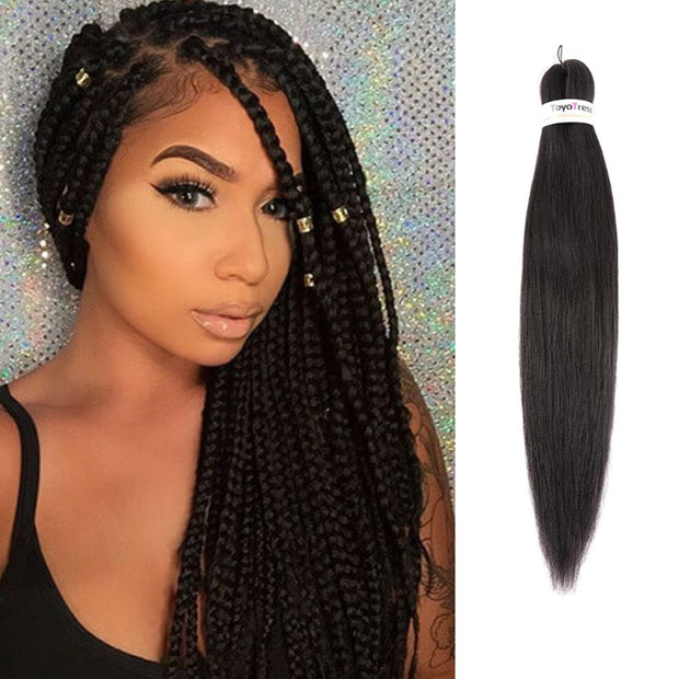 Toyotress 24 Inch Pre-stretched Braiding Hair Hot Water Setting Synthetic Fiber Crochet Braids Crochet Hair Braiding Hair Extension