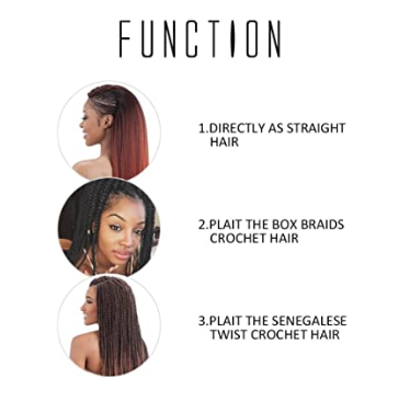Toyotress 16 Inch Pre-stretched Braiding Hair Hot Water Setting Synthetic Fiber Crochet Braids Crochet Hair Braiding Hair Extension