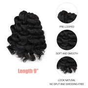 Pre-twisted Passion Twist Crochet Hair 7 Packs Pre-looped Passion Twist Crochet Braid Tiana Passion Twist Crochet Hair Hair Extensions
