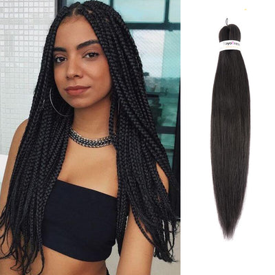 Toyotress 26 Inch Pre-stretched Braiding Hair Hot Water Setting Synthetic Fiber Crochet Braids Crochet Hair Braiding Hair Extension