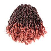 Toyotress Tiana Passion Twist Hair - 6 inch Pre-Looped Pre-twisted Crochet Braids Hair Synthetic Braiding Hair Extension