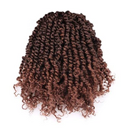 Toyotress Tiana Passion Twist Hair -10 Inch Pre-Looped Pre-twisted Crochet Braids Hair Synthetic Braiding Hair Extension