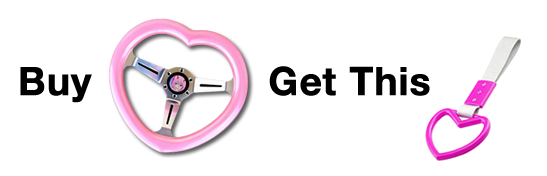Free Heart Hang Ring with every Heart Steering Wheel - TokyoToms.com