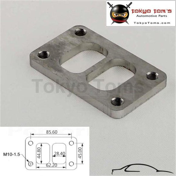 0.36 Th 304 Stainless Steel T3 Divided Turbo Inlet Flange Exhaust M10 X 1.5