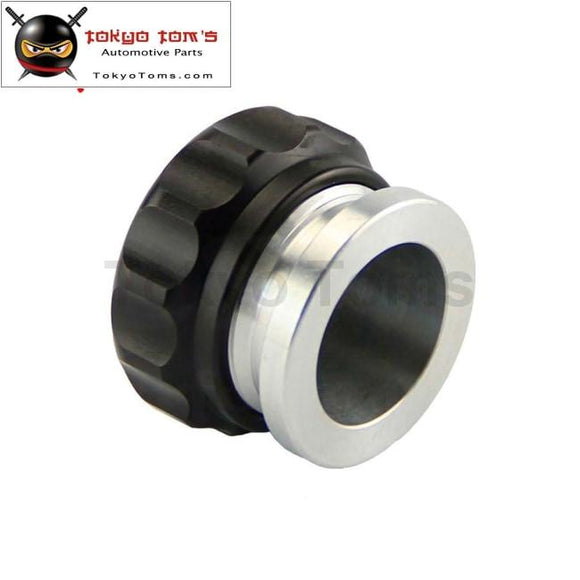 1 25.4Mm Id Aluminium Weld On Filler Neck & Cap Oil Fuel Expansion Water Tank Black / S