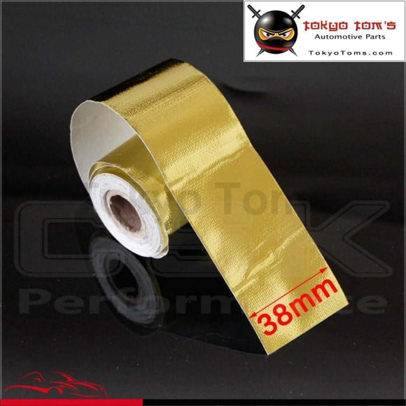 1.5X15 Firewall Heat Shield Wrap Reflective Protective Defense Tape Gold