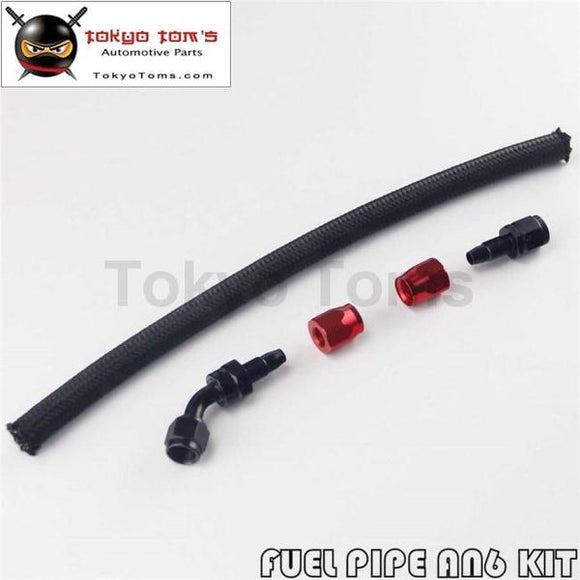 1 Foot An6 Nylon/steel Braided Oil Fuel Hose + 45 Deg & Straight Swivel Fittings