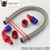 1 Ft F An10 Nylon/steel Braided Oil Fuel Hose + 90 Deg & Straight Swivel Fittings