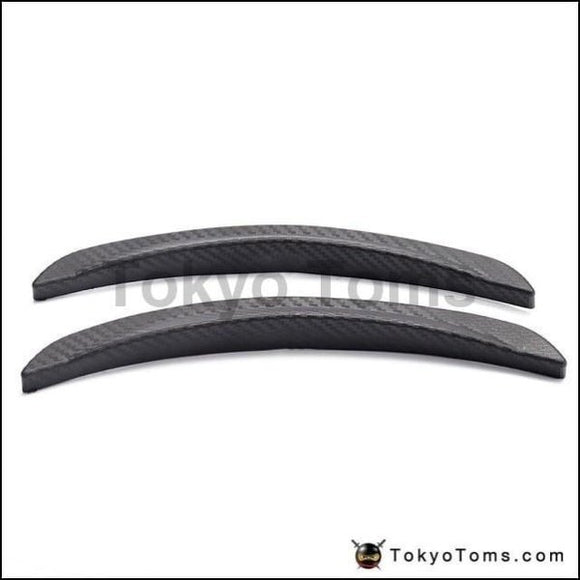 1 Pair 10 Carbon Texture Diffuser Fender Flares Lip Fit On Suv Truck Car Round Wheel Wall Exterior