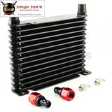 10-An 32mm 13 Row Engine/Transmission Racing Coated Aluminum Oil Cooler+Fitting