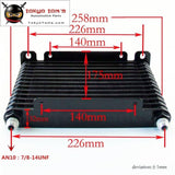 10-An 32Mm 13 Row Engine/transmission Racing Coated Aluminum Oil Cooler+Fitting Oil Cooler