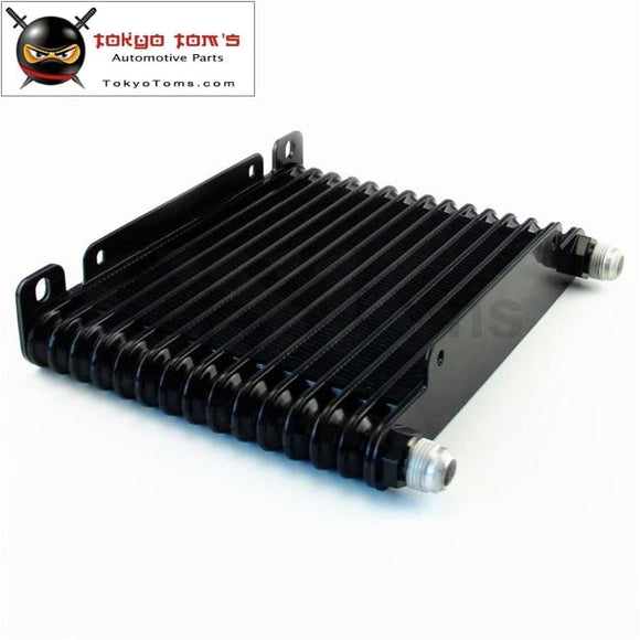 10-An 32Mm 15 Row Engine/transmission Racing Coated Aluminum Oil Cooler Black Oil Cooler