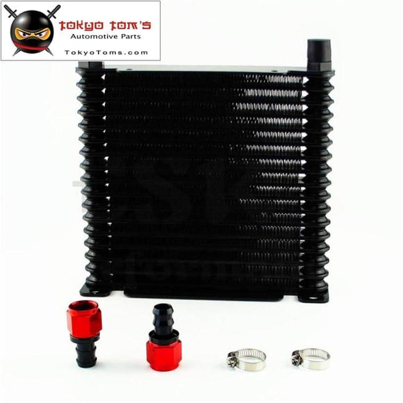 10-An 32Mm 17 Row Engine/transmission Racing Coated Aluminum Oil Cooler Black Oil Cooler