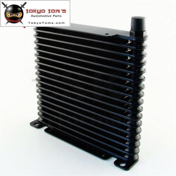 10-An 32Mm Aluminum 17 Row Engine/transmission Racing Oil Cooler Black