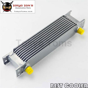 10 Row 8An Universal Engine Transmission Oil Cooler 3/4Unf16 An-8 Silver
