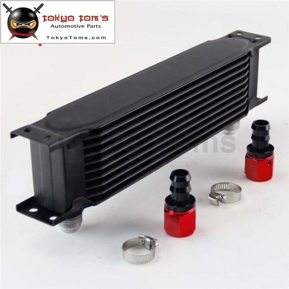 10 Row An10 Universal Aluminum Engine Transmission 248Mm Oil Cooler British Type W/ Fittings Kit