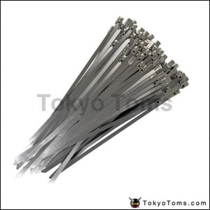 100X Exhaust Heat Stainless Steel Cable Ties Wrap Metal Tie Extra Long & Wide Large For Bmw E60 E61