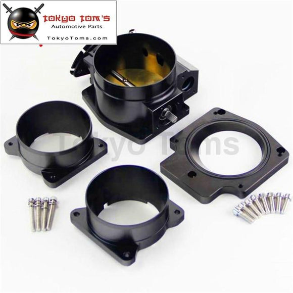 102Mm Throttle Body + Intake Plate Maf Adapter Ends For Chevy Ls1 Lt4