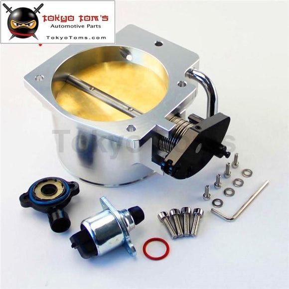 102Mm Throttle Body + Tps Iac Throttle Position Sensor For Lsx Ls1 Ls2 Ls6 Ls7