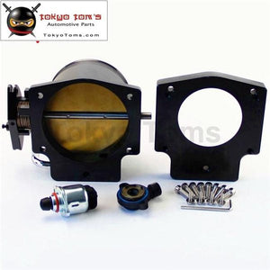 102Mm Throttle Body W/ Tps Iac + Manifold Adapter Plate For Ls Lsx Black