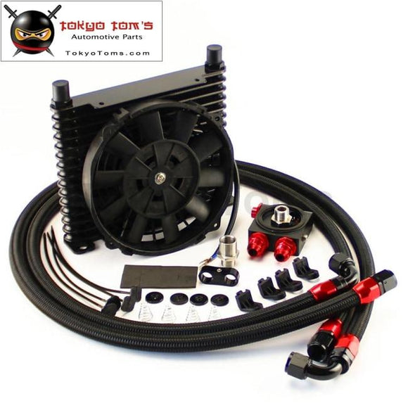 262MM 15 ROW 10AN OIL COOLER BL  HIGH RACING REMOTE ENGINE TRANSMISSION