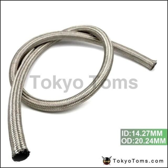 10An An 10 -10 (Id:14.27Mm Od:20.24Mm) 1M Stainless Steel Fuel Oil Gas Braided Hose Line Tk-An10