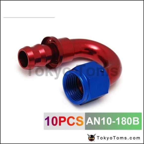 10An An10 10-An 180 Degree Swivel Oil/fuel/gas Line Hose End Push-On Male Fitting An10-180B Oil