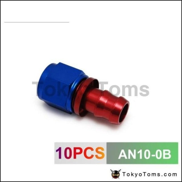 AN-4 AN4 4AN STRAIGHT SWIVEL OIL FUEL GAS LINE HOSE END FITTING ADAPTOR RED//BLUE