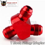 10An An10 Billet Aluminium Y Block Adapter Fitting Blue/red/black