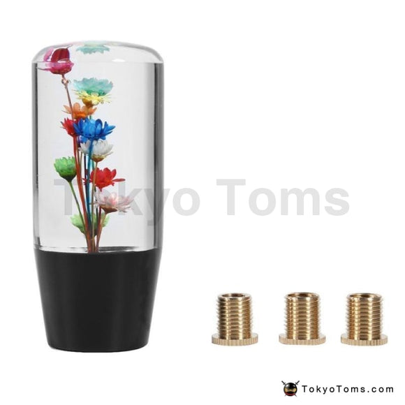 10cm Universal Gear Shift Knob Adapter Bouquet Crystal Flower