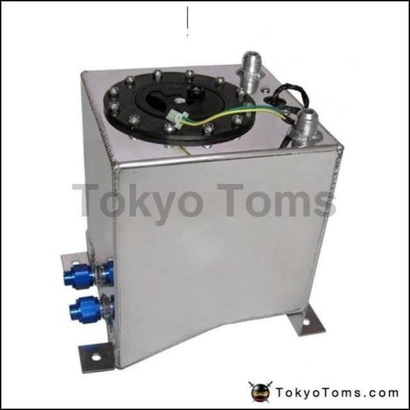 10L Aluminium Surge Tank Mirror Polish Fuel Cell Foam Inside With Sensor Systems