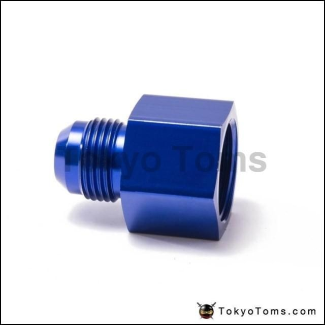 AN-12 AN12 12AN To 3//4/'/' NPT Straight Adapter Pipe Fuel Oil Fitting Blue