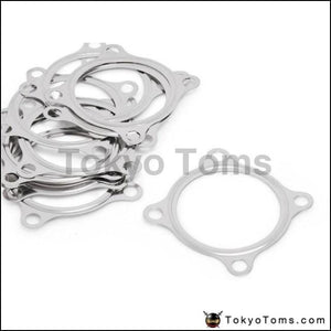 10Pcs/lot 2.5 Inch 4Bolt Ss304 Turbo Exhaust Downpipe Flange Gasket For Gt3582R Gt35 T3 Parts