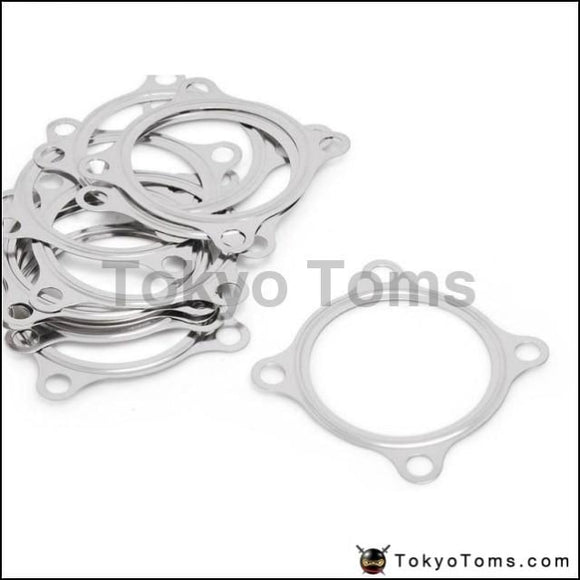 """10PCS 2.5/"""" 4 Bolt SS304 Turbo Exhaust Downpipe Flange Gasket For GT3582R GT35 T3"""