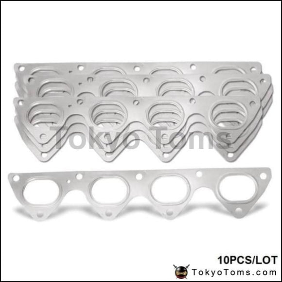 10Pcs/lot 3 Layer Stainless Steel Exhaust Manifold Header Gasket For Honda Integra Civic Crx B16