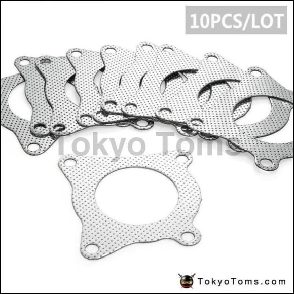 10Pcs/lot For Vw Golf Scirocco Bora Tfsi Turbo Outlet Downpipe Exhaust Gasket (4 Bolt) K03 K04 Parts