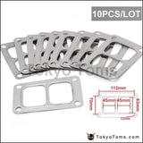10Pcs/lot Jdm T6 Exhaust Divided Inlet 4 Bolt Gasket Fit Twinscroll Turbocharger Turbo Parts