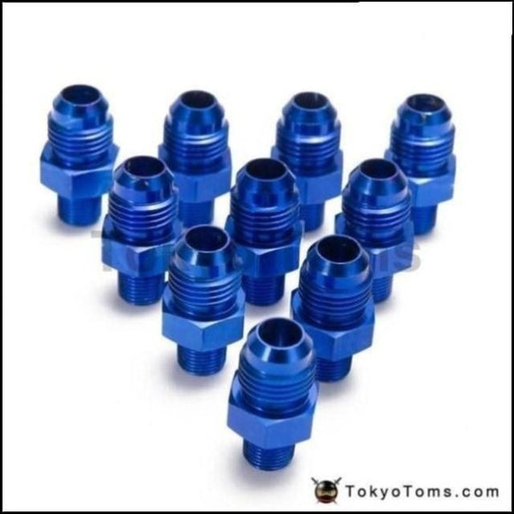 10Pcs/lot Straight Male Oil Cooler Fuel Hose Fitting Adapter An6-1/8Npt