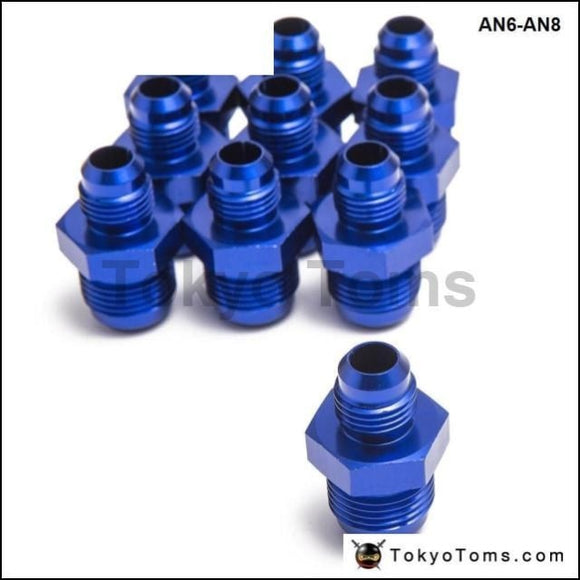 10Psc/lot Hose End Fitting / Oil Cooler Fitting An6-An8 For Braided Stainless Steel Hose (Blue H Q)