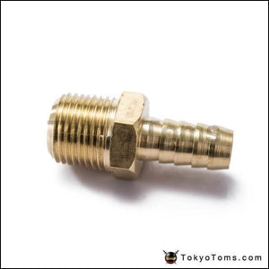 1/2 Hose Barb X Mip Brass Male Pipe Thread Npt Fitting Fuel Water For Bmw Vw Audi Turbo Parts