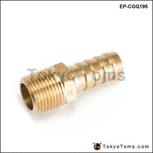1/2 Inch Hose Barb X 3/8 Npt - Male Insert Brass Fitting For Fuel Pump/oil Cooler Honda Civic Turbo