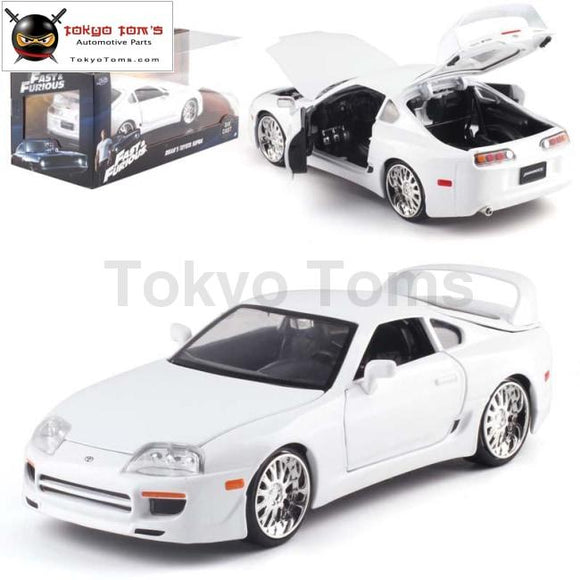 1:24 Brians Supra White 1995 Diecast Model Cars Toy Alloy Metal Collection Birthday Gifts Toys Car
