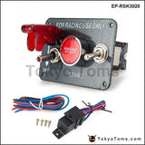 12V Ignition Switch Panel Engine Start Push Button Led Toggle For Racing Car Switches
