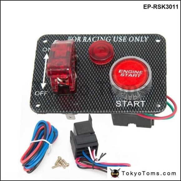 12V Red Led Racing Car Engine Start Push Button Ignition Switch Panel Toggle Hot Switches