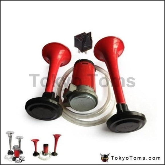 12V Twin Tone Air Horns Kit For Car Boat Van Truck Loud Horn/trumpet Set Seat 2001-2006 Accessories