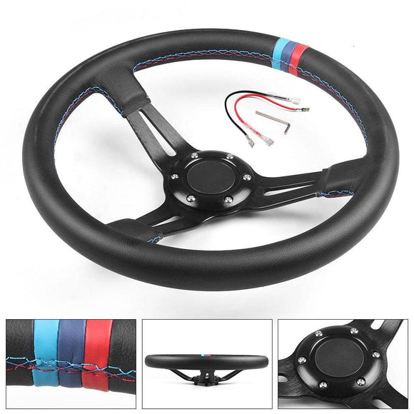 13.5''(345mm) Dishie PVC Leather Steering Wheel