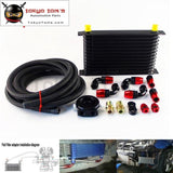 13 Row 262Mm An10 Universal Engine Oil Cooler Trust Type+M20Xp1.5 / 3/4 X 16 Filter Relocation+3M